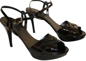 Stuart Weitzman Black Patent Leather Platforms