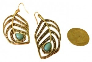 Other Turquoise feather earrings