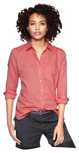 Gap Button Down Shirt Red