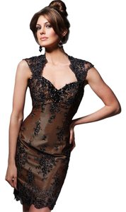 Tony Bowls Short Brown Lace Dress
