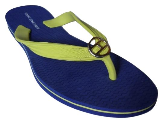 Tommy Hilfiger Yellow, Blue Sandals