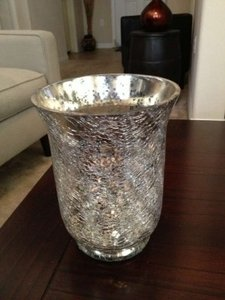 Silver Mercury Glass 12 Candle Holders Centerpiece