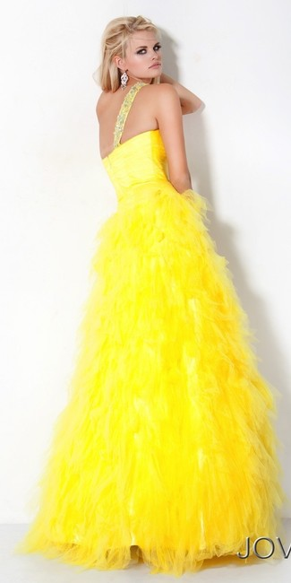 Jovani One Puff Tulle Jewels Prom Ball Gown Dress