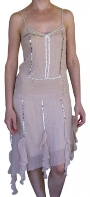 Preload https://img-static.tradesy.com/item/141776/bebe-sheer-silk-with-sequins-and-beaded-just-below-knee-length-high-low-night-out-dress-size-6-s-0-0-650-650.jpg