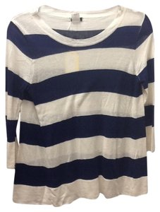 J.Crew Stripes Casual Silk Linen Sweater
