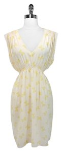 Catherine Malandrino short dress Ivory/Yellow Silk on Tradesy