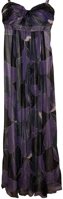Item - Purple Black White Silver And Bcbg Gown Long Formal Dress Size 2 (XS)