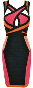 CelebBoutique Bandage Bodycon Cut-out Multi-coloured Sexy Date Dress