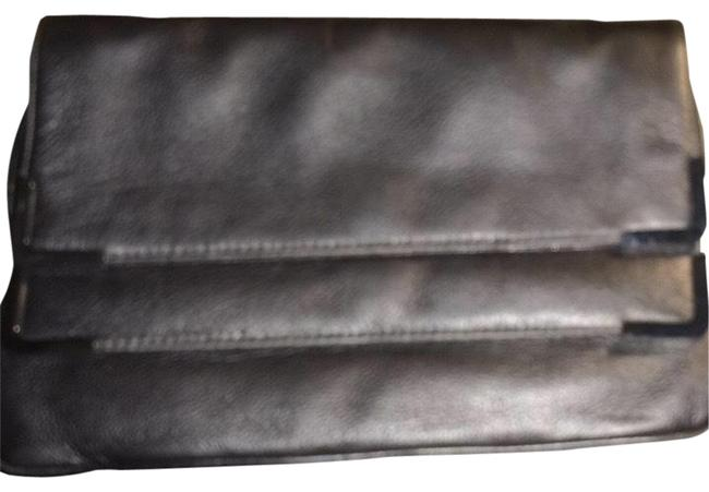 Michael Kors Beverly Leather Double Foldover Anthracite Gunmental Clutch Michael Kors Beverly Leather Double Foldover Anthracite Gunmental Clutch Image 1