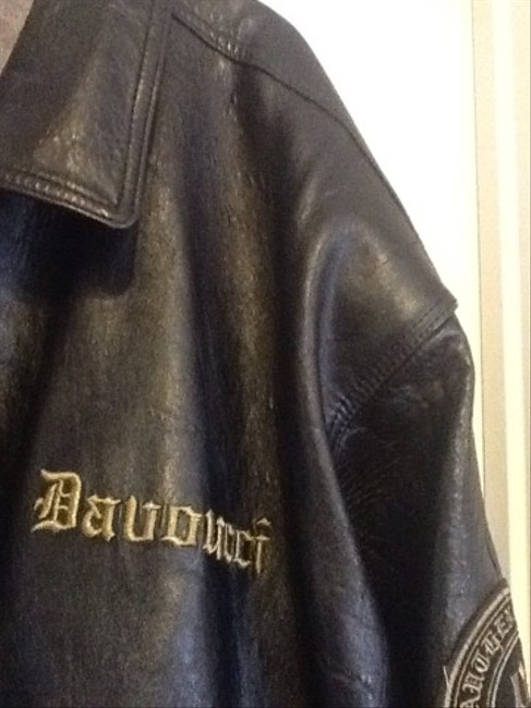 Davoucci Black & Gold Leather Jacket