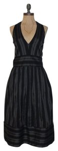 Liz Claiborne Formal Halter Pinstripe 12 Evening Dress