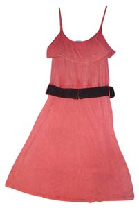 Anama short dress Coral Distressed Ruffle on Tradesy