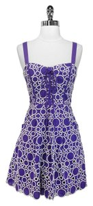 Plenty by Tracy Reese short dress Purple & White Frock Cotton on Tradesy
