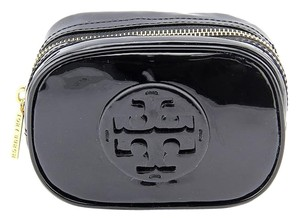 Tory Burch Tory Burch Patent Zip Cosmetic Case, Black