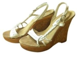 Steve Madden Leather Strapping. White Wedges