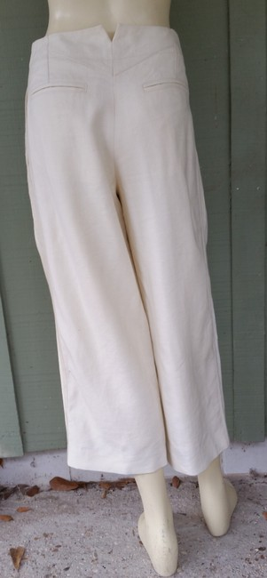 Marc Jacobs Linen Cropped Pleated Pants