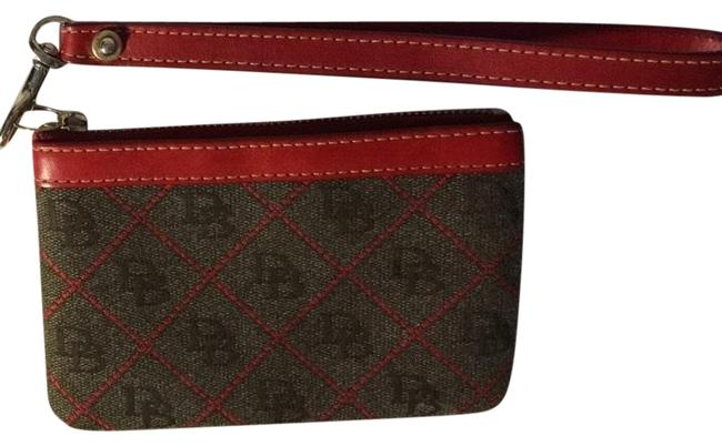Dooney & Bourke Red and Gray Db Wristlet Wallet Dooney & Bourke Red and Gray Db Wristlet Wallet Image 1