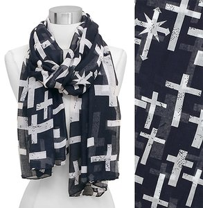 Other Spotted Cross & Arrow Cross Pattern Oblong Scarf for woman