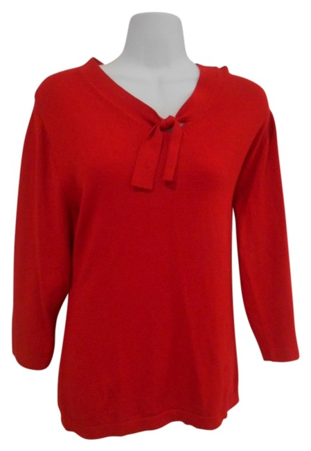 Sag Harbor Large Holiday Neck Knit Fine Knit Shirt Shirt Dressy Office Holiday Party Small 12 10 Womens Small Regular Large Sweater