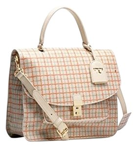 Tory Burch Top Handle Plaid Classic Satchel