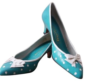 Evan Picone Teal/white Pumps