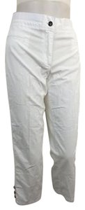 Rafaella With Stretch Waist Womens Capri/Cropped Pants White