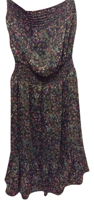 Criss Cross short dress Navy Francesca's Floral on Tradesy