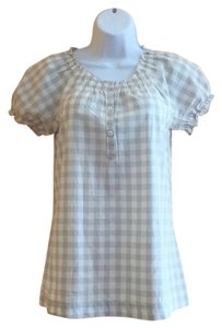 Merona Checkered Cotton Peasanttop Checkeredtop Top