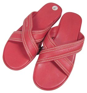 Louis Vuitton Slippers Criss Cross Leather pink Sandals