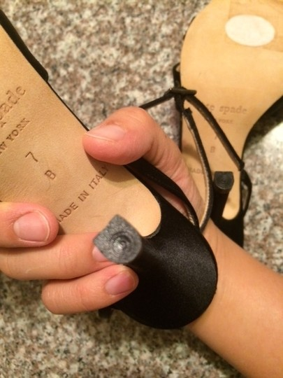 Kate Spade Made In Italy Satin Heels black Sandals