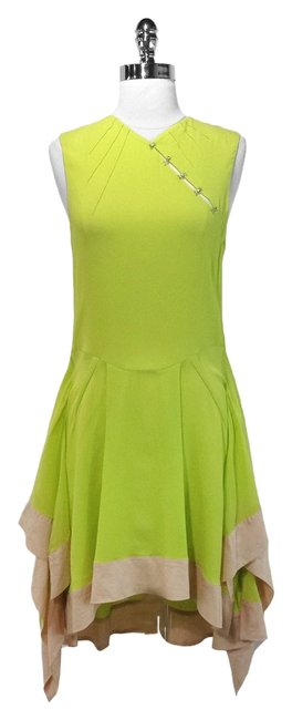 Preload https://img-static.tradesy.com/item/1418199/alessandro-dell-acqua-lime-green-layered-high-low-short-casual-dress-size-8-m-0-0-650-650.jpg