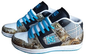 DC Shoes Dc Dc Manteca Sneakers Animal Print Plaid Black/Blue Jay Athletic