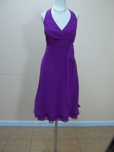 Alfred Angelo Violet Chiffon 7173 Formal Bridesmaid/Mob Dress Size 8 (M)