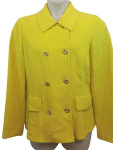 St. John Yellow Knit Jacket Blazer