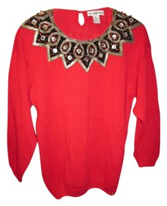 Victoria Harbour Holiday Party Vintage Retro Fun Classic Stylish Beaded Jeweled Christmas Sweater