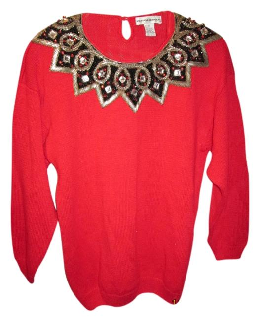 Victoria Harbour Holiday Vintage Classic Beaded Christmas Sweater