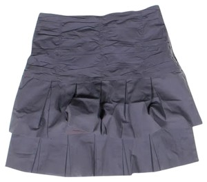 Odille Spring Lavender Ruffle Anthropologie Mini Skirt purple, grey