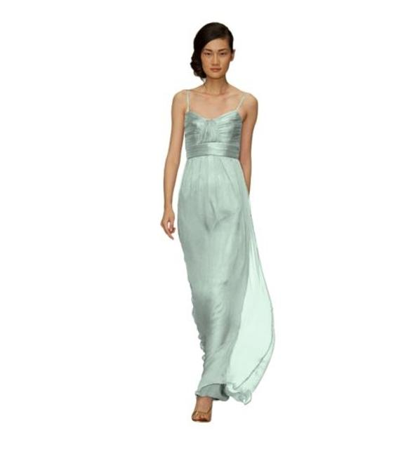 Item - Mint Crinkle Chiffon G533c Formal Bridesmaid/Mob Dress Size 10 (M)