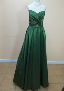 Alfred Angelo Pine Green 7187 Formal Bridesmaid/Mob Dress Size 14 (L)