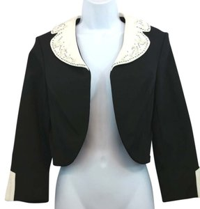 Nicole Miller Cropped Jacket Top
