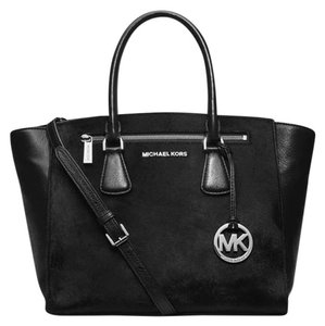 Michael Kors Calfhair Satchel in Black