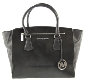 98e82d79036a Michael Kors Blackhandbag Calfhair Leatherbag Sophiehandbag Satchel in Black