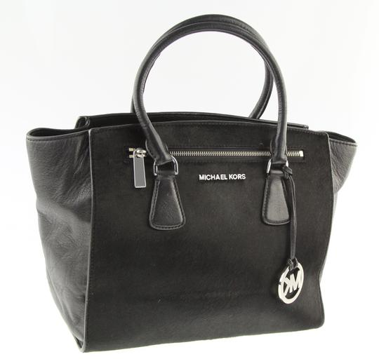 Michael Kors Blackhandbag Calfhair Leatherbag Sophiehandbag Satchel in Black