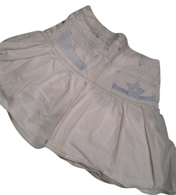 Talbots Kids Girls 12 Girls 12 Xs 25 Patriotic Military Nautical Cruise July 4th Gathered Pockets All Star Navy Skirt White with light blue stitching