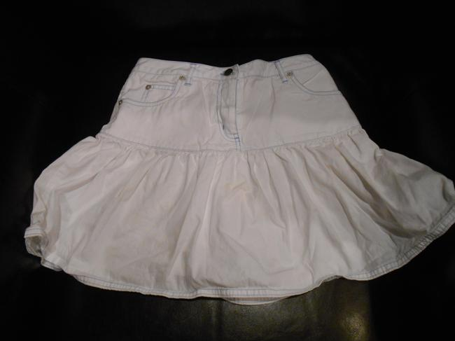 Talbots Kids Girls 12 Girls 12 Xs 25 Patriotic Military Nautical Cruise July 4th Gathered Pockets All Cotton Star Navy Skirt White with light blue stitching