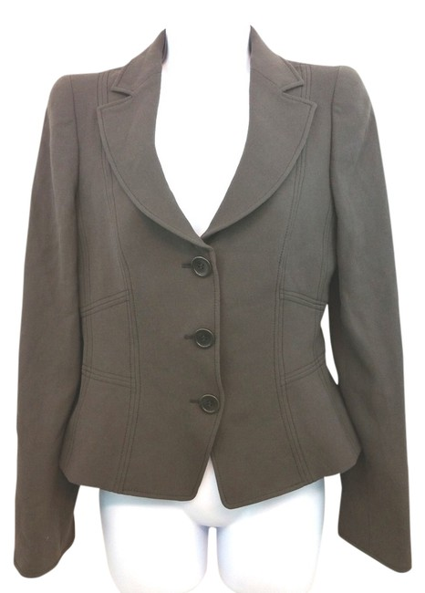Armani Collezioni Dark Brown Wool Jacket Blazer Size 2 (XS) Image 0