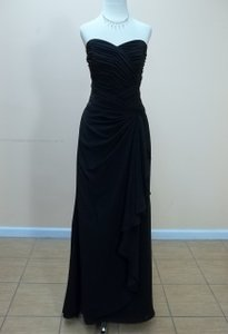 Impression Bridal Black Chiffon 1629 Formal Bridesmaid/Mob Dress Size 12 (L)