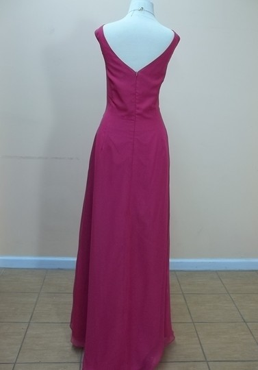 Impression Bridal Fuchsia Chiffon 1632 Formal Bridesmaid/Mob Dress Size 16 (XL, Plus 0x)