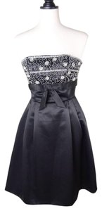 Betsey Johnson Evening Rhinestone Strapless Emberoidered Dress