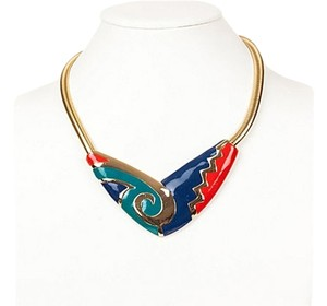 Other Aztec-Style Snake Chain Bib Necklace